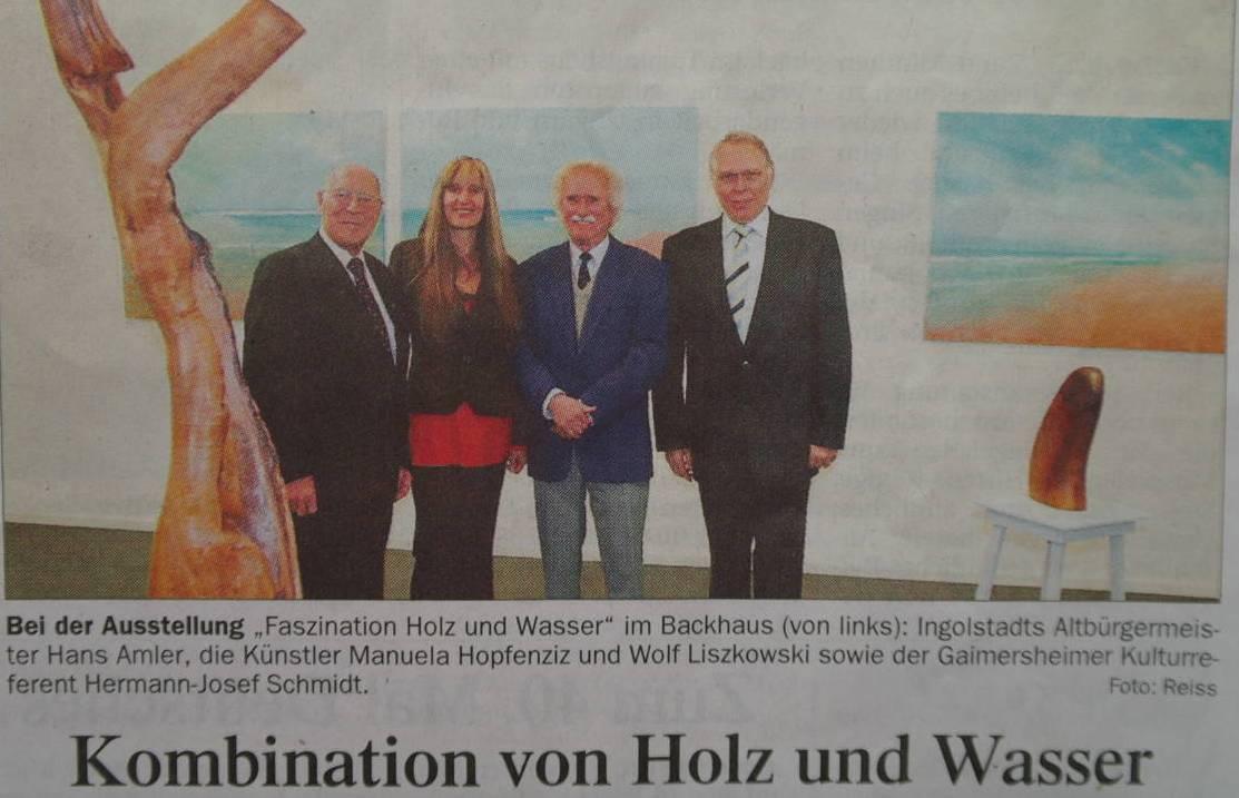 """Vernissage im """"Backhaus """" in Gaimersheim"""