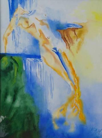 Sinnliche Wasserfrau 60x80